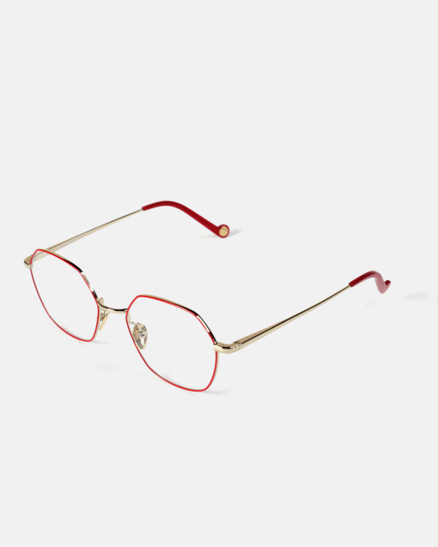 Lunettes Libourne or rouge